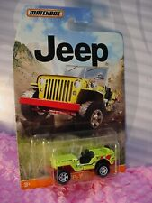 Matchbox '43 JEEP WILLYS ☆Safety Yellow;Red; LIFE GUARD☆Jeep Series☆NIP☆1:64