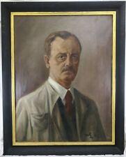 Lohmann Willy 1883-1959 Gemälde Portrait Mann mit Krawatte Selbstportrait ? 1949