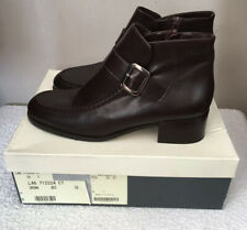 Bally Ladies Women's Brown Leather Urona Ankle Boots Size 39 New In Box