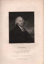 1836 GEORGIAN PORTRAIT PRINT ~ MASKELYNE ~
