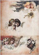 Carta di riso-ANGELI MUSICISTI 04-per decoupage scrapbooking Foglio