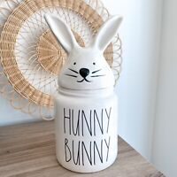 Rae Dunn Hunny Bunny White Canister With Lid Easter Collection Collectable NEW