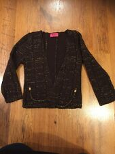 Lovely Girls Brown And Gold Flecked Cardigan Age 5