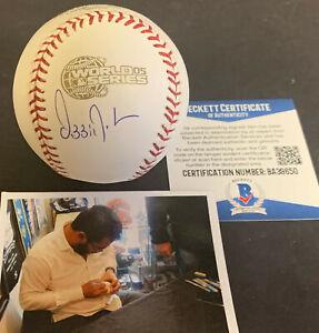 Ozzie Guillen White Sox Auto Signed 2005 World Series Baseball Beckett COA .