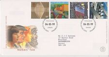 GB ROYAL MAIL FDC FIRST DAY COVER 1999 WORKERS' TALE STAMP SET BUREAU PMK