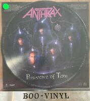 Anthrax Persistence of time picture disc LP vinyl record Thrash metal Nr Mint
