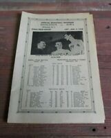 Vintage Iowa Hawkeyes Men's Basketball Program 1948 Iowa Field House Murray Weir