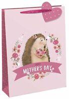 Mother's Day Gift Bag - Pink - Hedgehog - Medium 25cm x 21.5cm Quality NEW