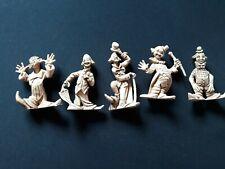 "Vintage Lot of Clowns- Hong Kong plastic figures 2.5"""