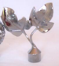 16mm Polished Chrome Silver Ornate Leaf Leaves Curtain Pole Finials Ends x 2