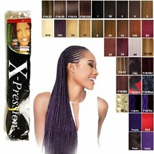 """5 Packs X-pression Xpression Expression 82"""" Ultra Braid Hair  2-3 day shipping"""