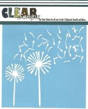 "Clear Scraps 12"" Dandelion Wind stencil ideal for airbrushing, tole painting"