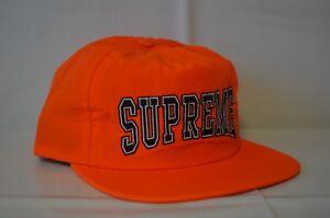 SUPREME Nylon Collegiate Logo 5-Panel Orange box logo neil undercover S/S 15