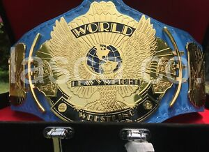 Ultimate Warrior WWF Classic Gold Winged Eagle Championship Title Belt
