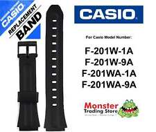 REPLACEMENT CASIO WATCH BAND ORIGINAL ONLY FITS: F-201W, F-201WA