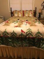 Tall Snowmen Linda Spivey Full Queen Comforter Set Shams Christmas Bedding