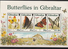 FOGLIETTO GIBILTERRA 1997 SHEETLET FARFALLE BUTTERFLIES MNH**