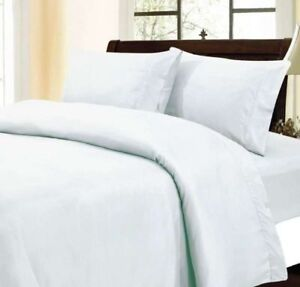 1000 Thread Count Egyptian Cotton US Duvet Set Collection All Sizes &White Solid