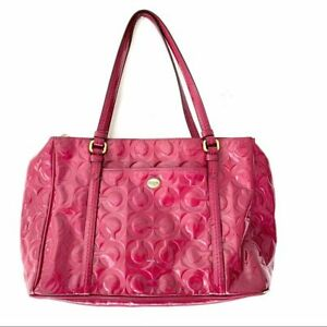 Coach Raspberry Patent Leather Purse