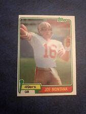 1981 Topps Joe Montana Rookie Sharp Corners 49er's