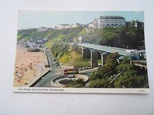 Vintage Postcard SPA BRIDGE AND SOUTH BAY SCARBOROUGH Franked 1973   §A294