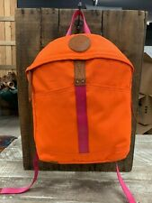Will Leather Goods Canvas Give Will Orange School Backpack