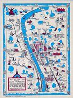 Elgin Illinois past present 1835-1930 historic sites pictorial map POSTER 11482