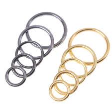 100x Metal Black Bra Strap O Rings Connector Lingerie Adjuster Sliders 18mm