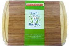 NEW Organic Bamboo Wood Cutting Board Extra Large 18x12 inches Kitchen Chopping