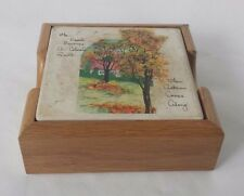 Flower Spring Autumn Coasters Ceramic Country Home Weather Seasons