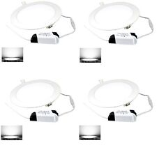 4 SPOT LED PANEL ENCASTRABLE 18W BLANC FROID 6000K - SOCKET ALUMINIUM