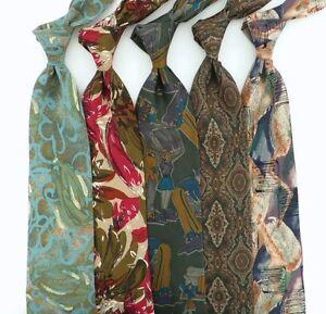 Lot of 5 TIZIANA BOSSI Silk Italian Ties