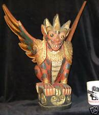 """18.5""""(47 cm) Traditional Balinese Wood Carving Guardian"""