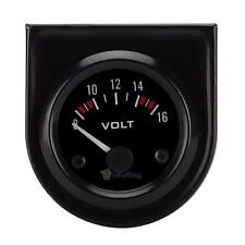 Black Face 2 Inch 52mm Voltmeter Volt Voltage Gauge Meter12V LED Boat Auto Car