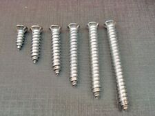 "Qty.75 #344 Pontiac Chrome #8 Phillips Oval Head Trim Screws 1/"" to 1-1//2/"" Long"