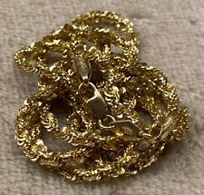 14k Yellow Gold Twist Rope Chain- Peru