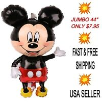 "Mickey Minnie Mouse Balloon Jumbo 44"" Set For Birthday Foil Balloon Party Decor"