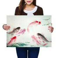 A2 | Koi Carp Fish Japanese Oriental - Size A2 Poster Print Photo Art Gift #8736