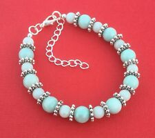 NEW! Amazonite Gemstone Handmade Beaded Unique Women's Bracelet - Aussie Seller!