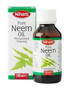Niharti Pure Neem Oil 100ml - Good Skin Natural Treatment Eczema Psoriasis Lice