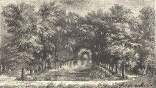 18TH century France: Oise: Chantilly Park, la propriété de la Condé; 1876