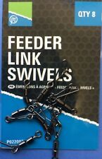PRESTON INNOVATIONS FISHING - FEEDER LINK SWIVELS  -  8 PER PACK