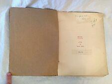 E L Grant Watson - JEPHTHAH - Original Typescript Play - Rare - George Locke