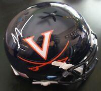 Thomas Jones Signed Virginia Cavaliers Mini Football Helmet w/COA