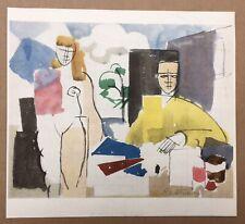 Estampe Roger de la Fresnaye Scène de genre Cubiste Homme Assis Femme Nue