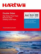 A4 Thick 300Gsm Double Sides High Glossy Inkjet Paper Photo Paper Hartwii