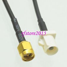 Cable RG174 6inch Fakra SMB B 9001 male plug to SMA male plug RF Pigtail Jumper