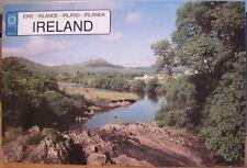 Irish Postcard Fish-Full Rivers SNEEM Ring of Kerry Co Ireland Hugh Weir EU Flag
