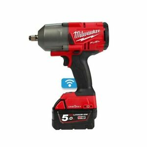 "Milwaukee M18ONEFHIWF12-502X FUEL One Key 1/2"" Impact Wrench Kit with Rubber Sle"
