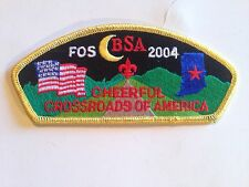 Boy Scout CSP, Crossroads of America Council Indiana 2004 SA-50 FOS, Yellow BDR